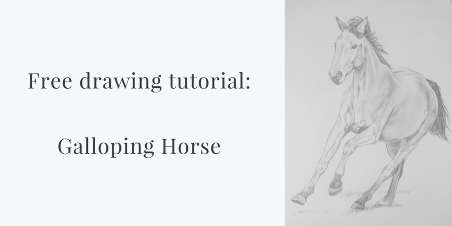 Free Drawing Tutorial – Galloping Horse